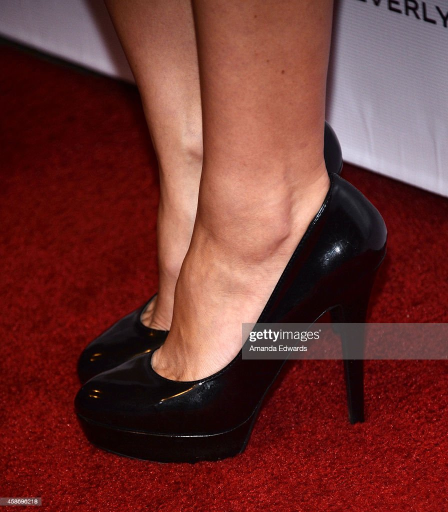 Actress and model Courtney Hope Turner (shoe detail) arrives at the 3rd Annual Unlikely Heroes Awards Dinner and Gala at the Sofitel Hotel on November 8, 2014 in Los Angeles, California.