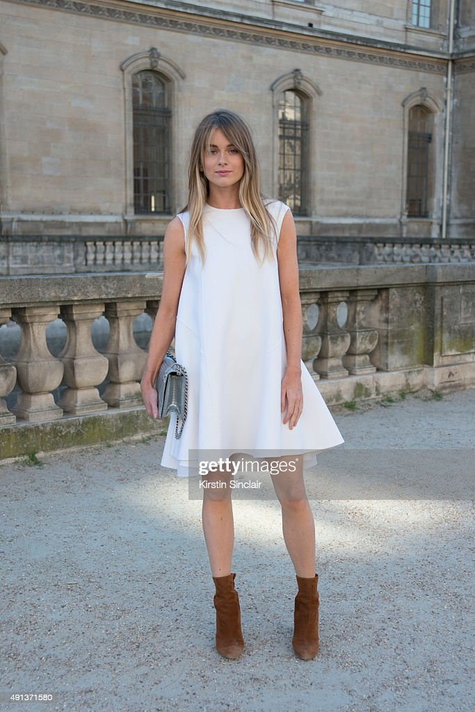 Actress and Model Cressida Bonas wears all Dior on day 4 of Paris Collections Women on October 2 2015 in Paris France Cressida Bonas