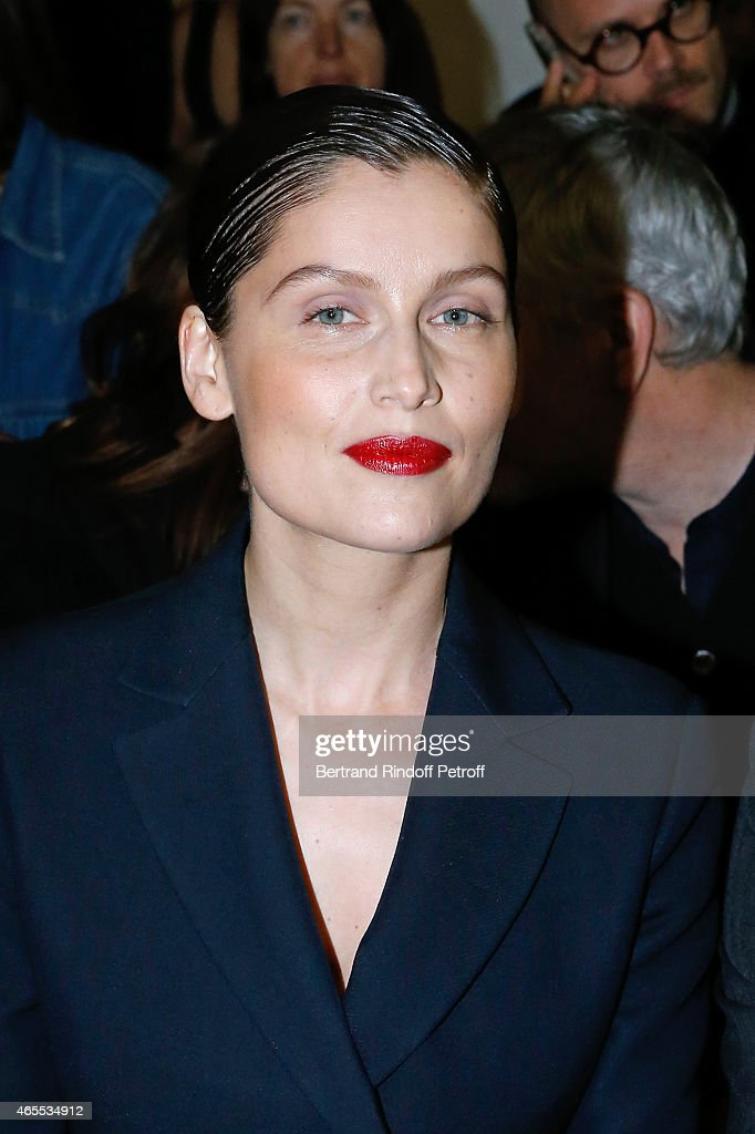 Actress and model <a gi-track='captionPersonalityLinkClicked' href=/galleries/search?phrase=Laetitia+Casta&family=editorial&specificpeople=203075 ng-click='$event.stopPropagation()'>Laetitia Casta</a> attends the Nina Ricci show as part of the Paris Fashion Week Womenswear Fall/Winter 2015/2016 on March 7, 2015 in Paris, France.