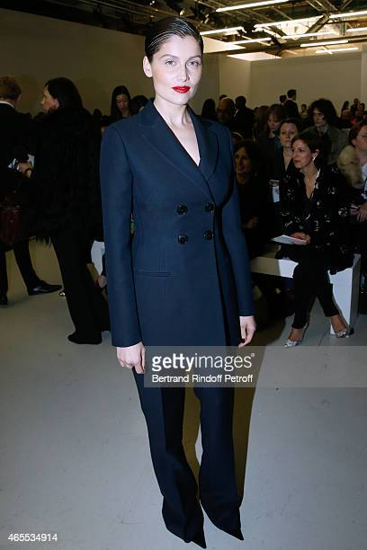 Actress and model Laetitia Casta attends the Nina Ricci show as part of the Paris Fashion Week Womenswear Fall/Winter 2015/2016 on March 7 2015 in...
