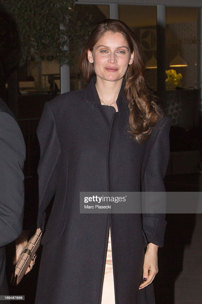 Actress and model Laetitia Casta is seen leaving the 'Agora' dinner during the 66th Annual Cannes Film Festival on May 25, 2013 in Cannes, France.
