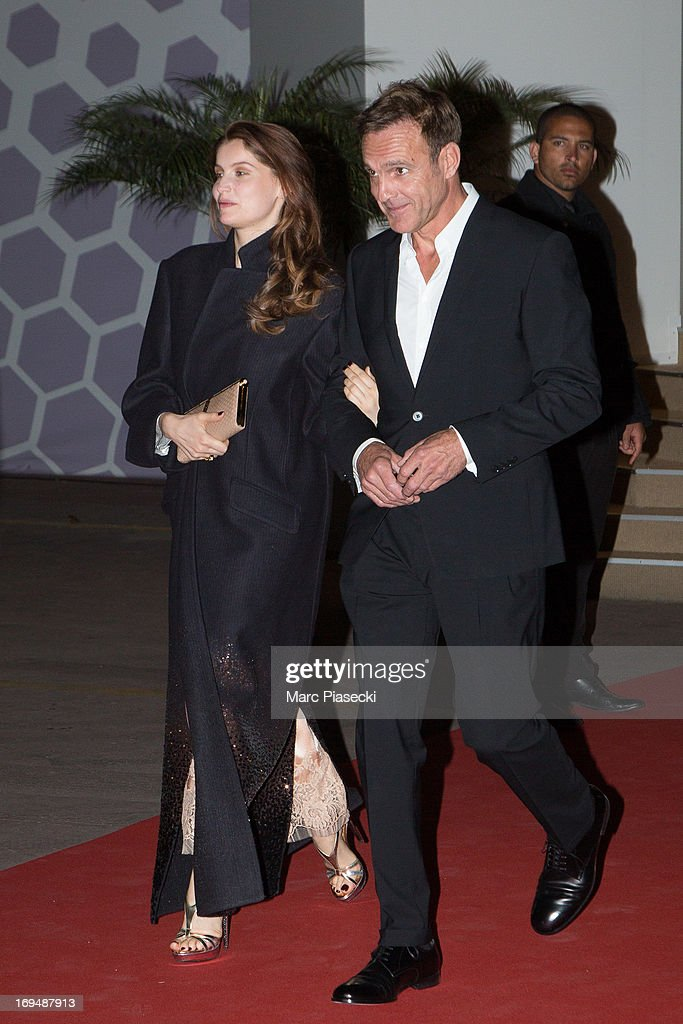 Actress and model <a gi-track='captionPersonalityLinkClicked' href=/galleries/search?phrase=Laetitia+Casta&family=editorial&specificpeople=203075 ng-click='$event.stopPropagation()'>Laetitia Casta</a> (L) is seen leaving the 'Agora' dinner during the 66th Annual Cannes Film Festival on May 25, 2013 in Cannes, France.