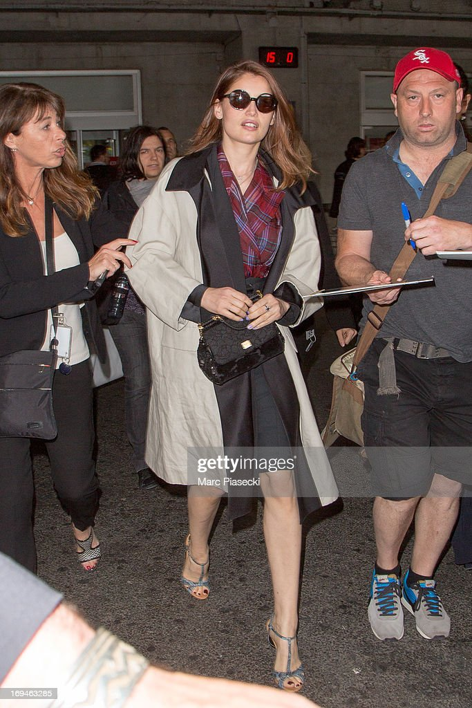 Actress and model Laetitia Casta is sighted at Nice airport during the 66th Annual Cannes Film Festival on May 25, 2013 in Nice, France.
