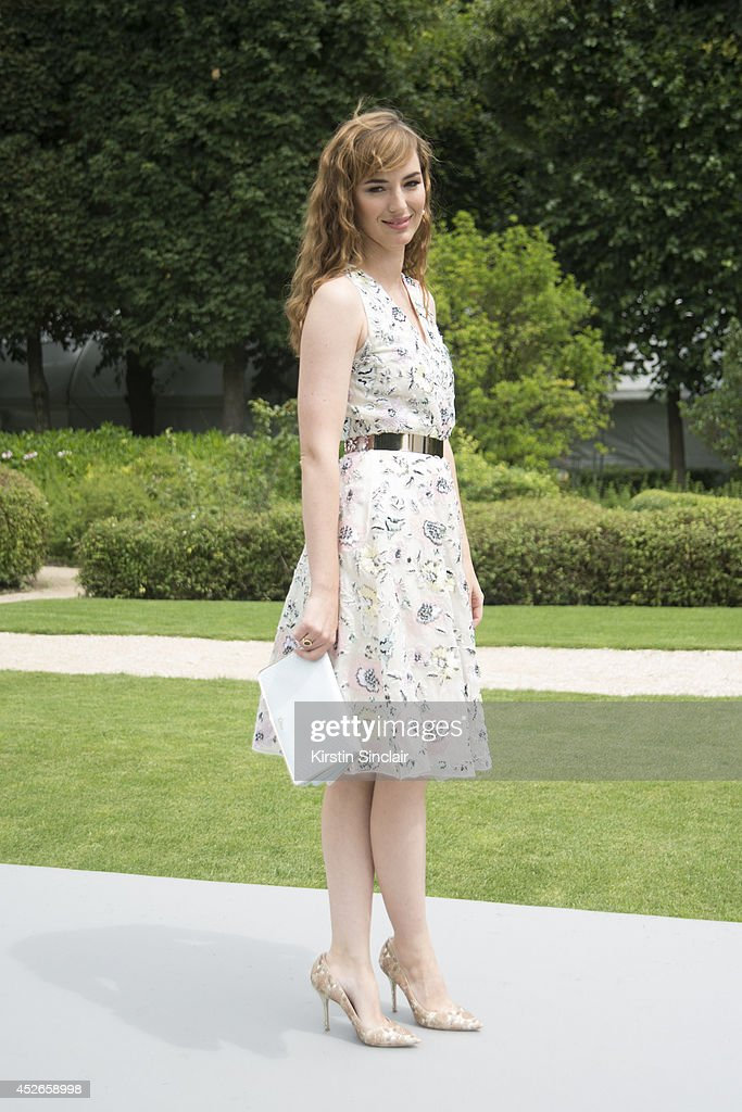 Actress and Model Louis Bourgoin wearing Dior day 2 of Paris Haute Couture Fashion Week Autumn/Winter 2014, on July 7, 2014 in Paris, France.