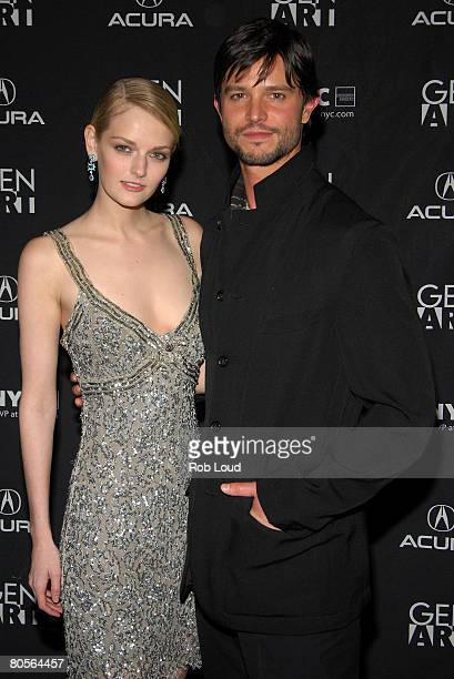 Actress and model Lydia Hearst and actor Jason Behr pose at the premeire of 'Frost' at the 13th Annual Gen Art Film Festival at the Visual Arts...