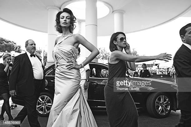Actress and model Magdalena Ghenea is photographed for Self Assignment on May 19 2012 in Cannes France