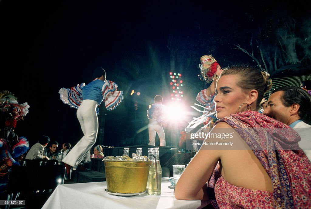 Actress and model <a gi-track='captionPersonalityLinkClicked' href=/galleries/search?phrase=Margaux+Hemingway&family=editorial&specificpeople=218193 ng-click='$event.stopPropagation()'>Margaux Hemingway</a> at the Tropicana Club, February 1978 in Havana, Cuba.