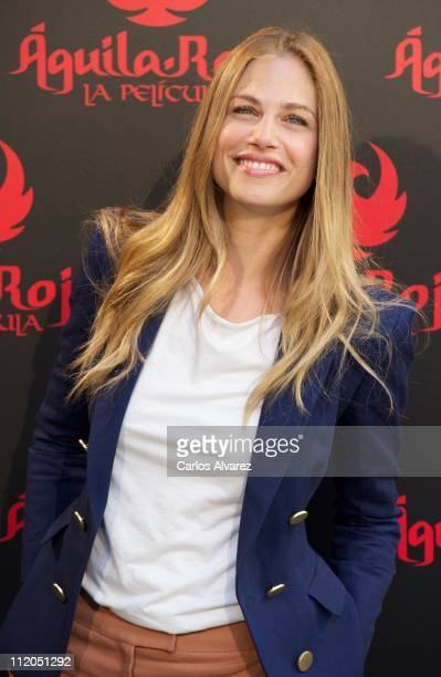 Actress and model Martina Klein attends the 'Aguila Roja' photocall at Santo Mauro Hotel on April 12 2011 in Madrid Spain