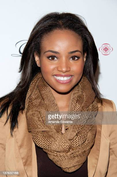 Actress and model Meagan Tandy arrives at the launch of actress Jodi Lyn O'Keefe's new jewelry collection 'Q' at Dari Boutique on January 23 2012 in...