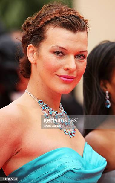 Actress and model Milla Jovovich arrives for the Palme d'Or Closing Ceremony at the Palais des Festivals during the 61st International Cannes Film...