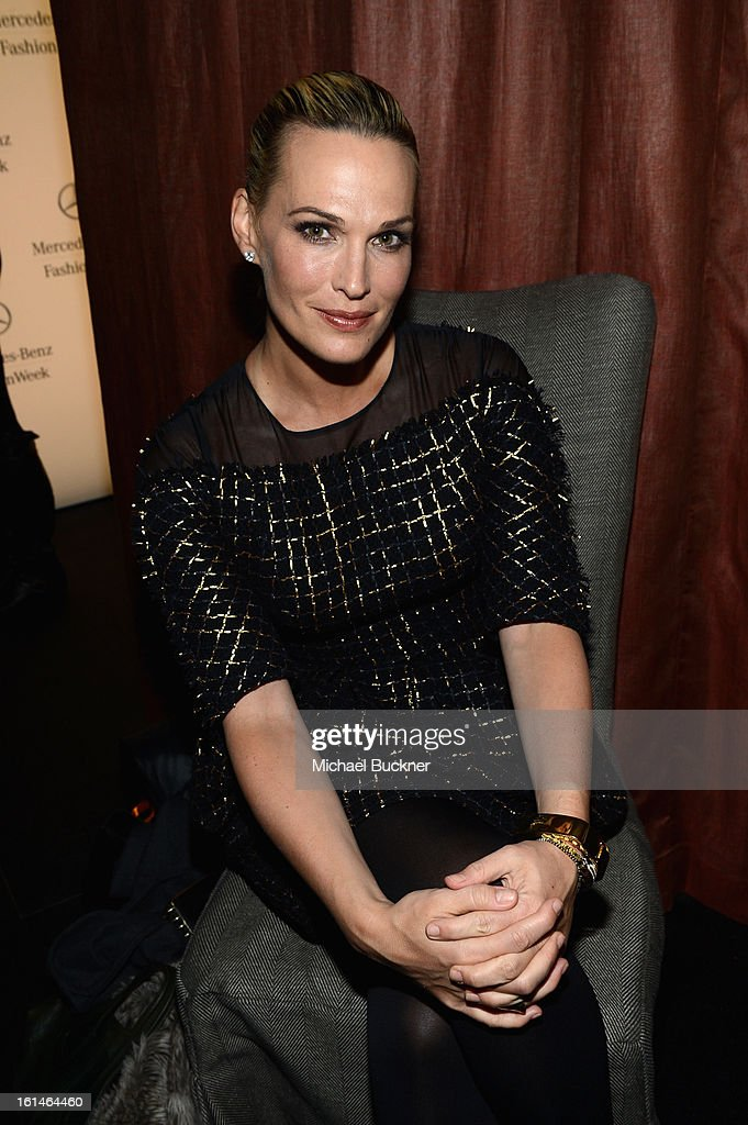 Actress and Model Molly Sims attends the Mercedes-Benz Star Lounge during Mercedes-Benz Fashion Week Fall 2013 at Lincoln Center on February 11, 2013 in New York City.