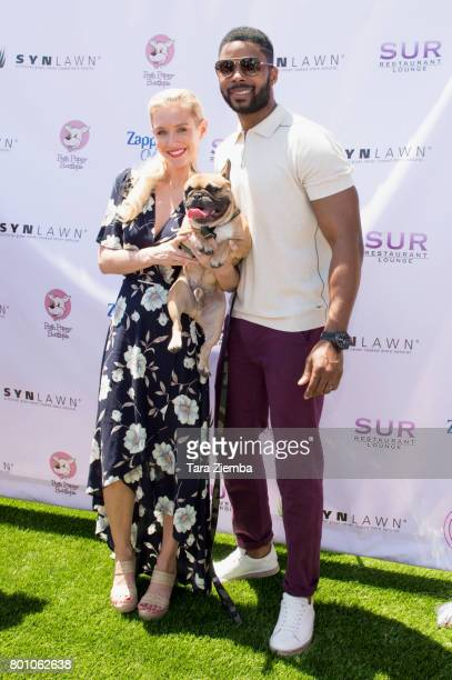 Actress and model Nicky Whelan attends 2nd Annual World Dog Day at Vanderpump Dogs on June 25 2017 in Los Angeles California