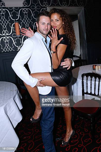 Actress and model Noemie Lenoir celebrates her 34th birthday and dance with her Dance professor Christian Millette at 'AClub Party' at Castel on...
