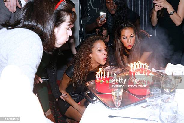 Actress and model Noemie Lenoir celebrates her 34th birthday with her friends at 'AClub Party' at Castel on September 19 2013 in Paris France
