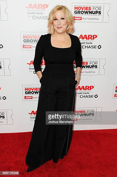 Actress and musician Bette Midler attends AARP's 15th Annual Movies For Grownups Awards at the Beverly Wilshire Four Seasons Hotel on February 8 2016...