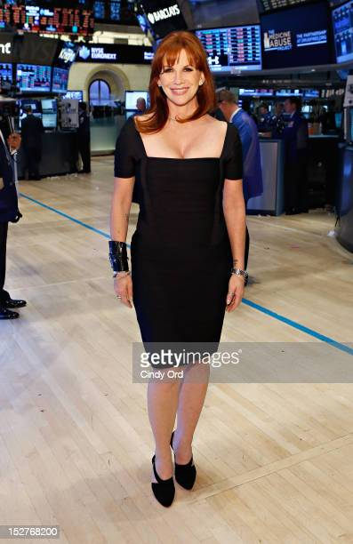 Actress and national spokesperson of Drugfreeorg Melissa Gilbert visits the New York Stock Exchange on September 25 2012 in New York City