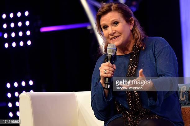Actress and novelist Carrie Fisher best known for her performance as Princess Leia in the original Star Wars trilogy attends the Star Wars...