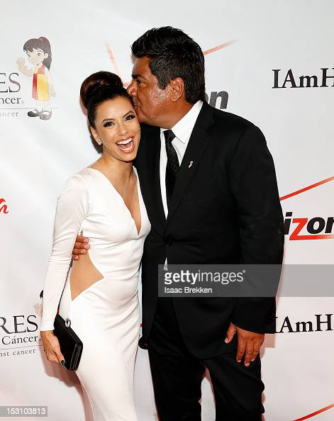 Actress and Padres Contra el Cancer National Spokeswoman Eva Longoria and comedian George Lopez arrive at the Padres Contra el Cancer's 12 annual 'El...