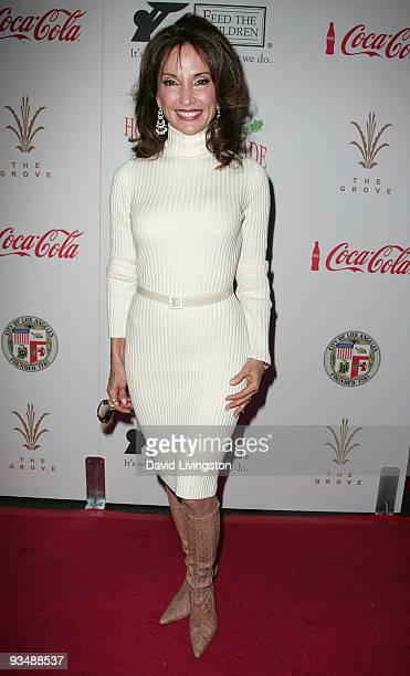 Actress and parade grand marshall Susan Lucci arrives for the 2009 Hollywood Christmas Parade at The Roosevelt Hotel on November 29 2009 in Hollywood...