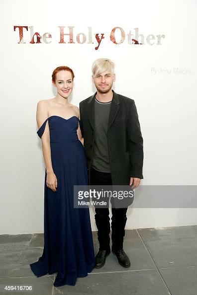 Actress and Photographer Jena Malone and musician Mark Foster attend The Holy Other A Series Of Photos by Jena Malone Opening Reception on November...