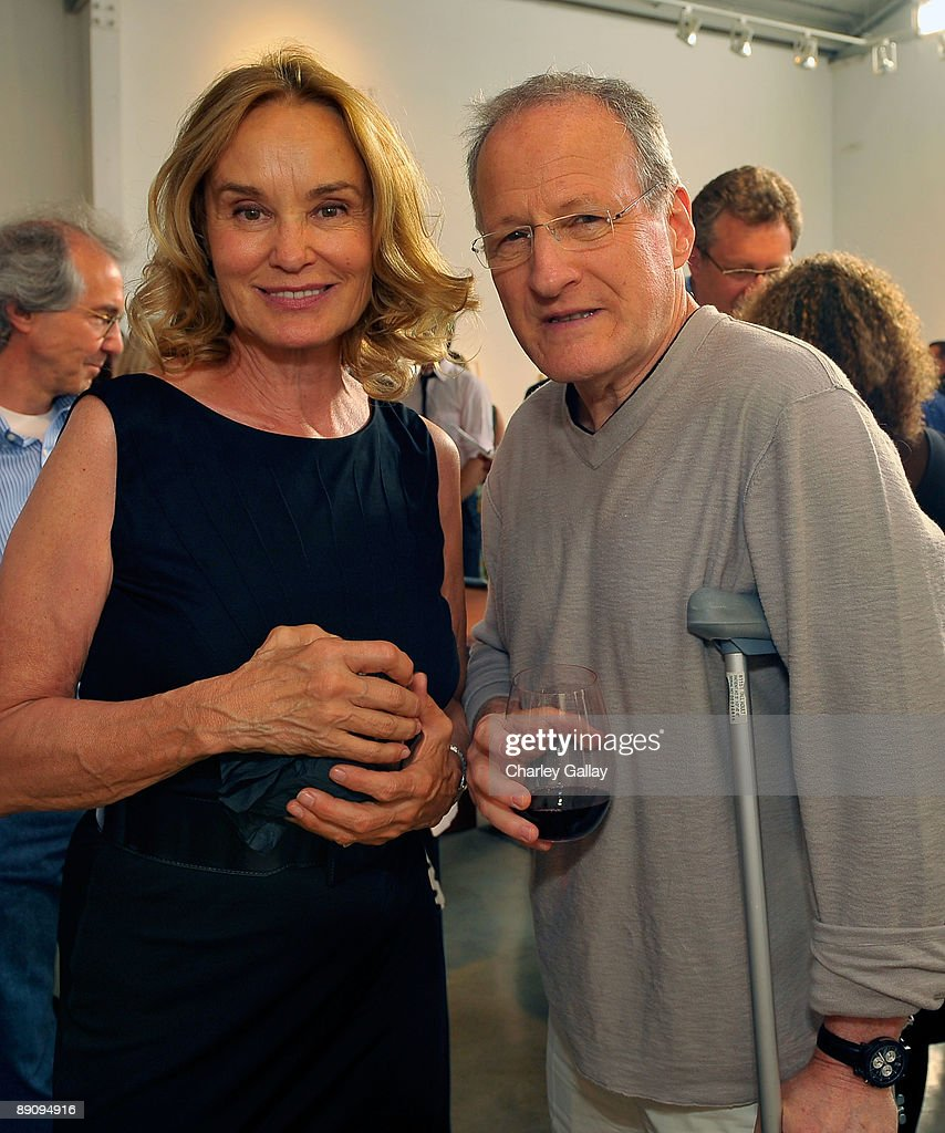 Actress and photographer, Jessica Lange and director Michael Mann attend the reception of 'Jessica Lange: 50 Photographs 1992-2008' at The Rose Gallery on July 18, 2009 in Santa Monica, California.