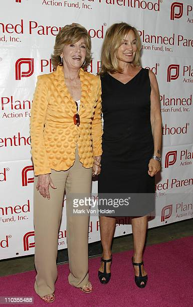 Actress and Planned Parenthood Board of Advocates member Jane Fonda and Jessica Lange attend the Planned Parenthood's One Million Strong Fundraiser...