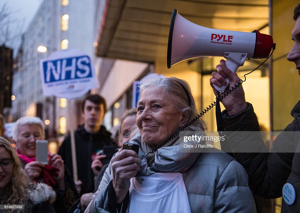 Vanessa Redgrave Joins Junior Doctors For Strike Day Rally