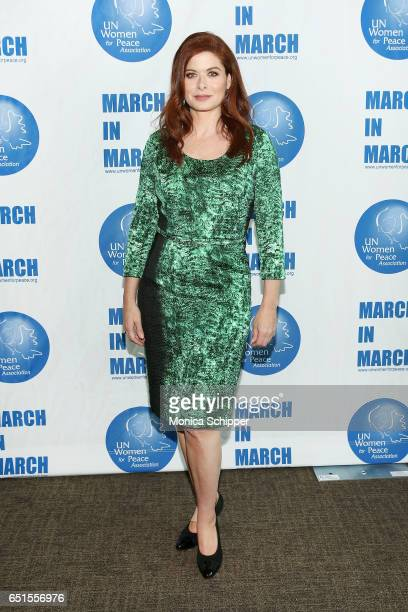 Actress and presenter Debra Messing attends the 4th Annual UN Women For Peace Association Awards Luncheon at United Nations on March 10 2017 in New...