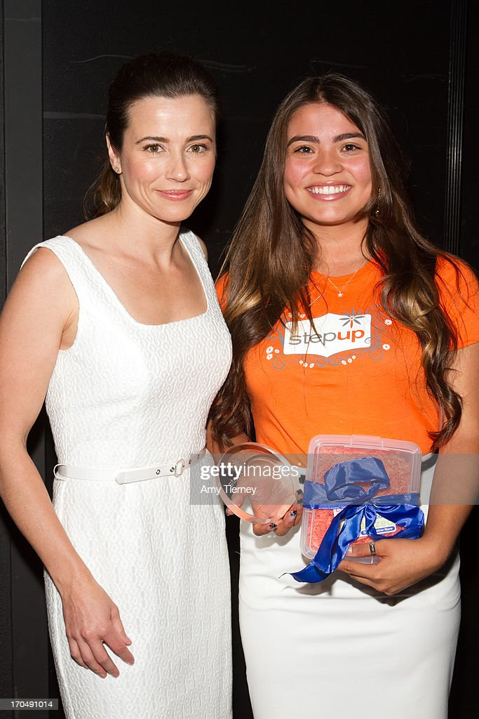 Actress and presenter <a gi-track='captionPersonalityLinkClicked' href=/galleries/search?phrase=Linda+Cardellini&family=editorial&specificpeople=215483 ng-click='$event.stopPropagation()'>Linda Cardellini</a> and Step Up student honoree Angie Zavala attend Step Up Women's Network's 10th Annual Inspiration Awards at The Beverly Hilton Hotel on May 31, 2013 in Beverly Hills, California.