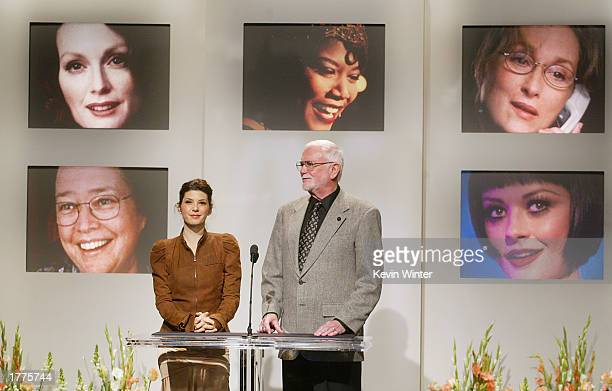 Actress and previous Oscar winner Marisa Tomei and Academy president Frank Pierson announce the 75th Academy Awards nominees for Best Supporting...