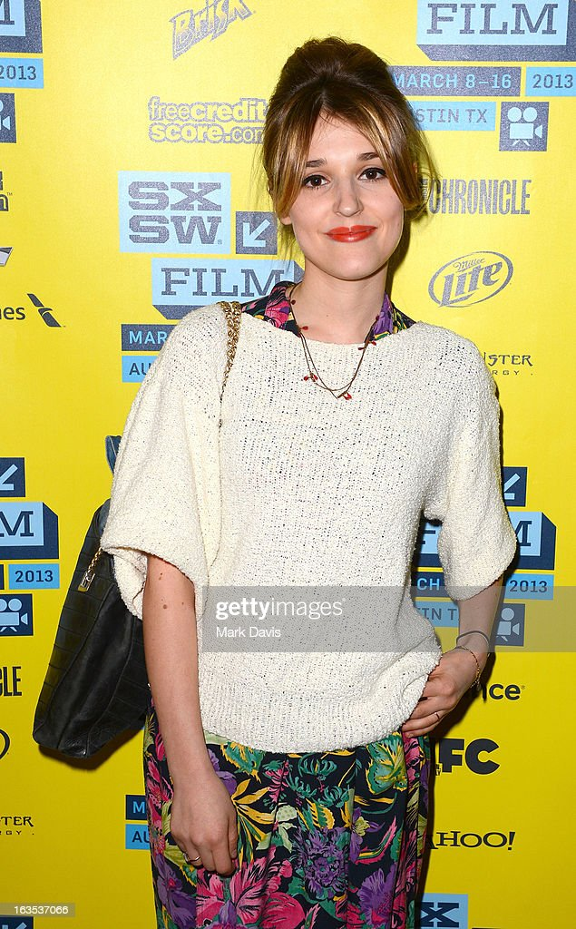 Actress and producer Lola Bessis attends the 'Swim Little Fish Swim' photo op held at the 2013 SXSW Music, Film + Interactive Festival at held at the Alamo Ritz on March 11, 2013 in Austin, Texas.