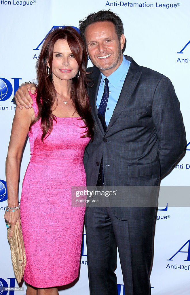 Actress and producer <a gi-track='captionPersonalityLinkClicked' href=/galleries/search?phrase=Roma+Downey&family=editorial&specificpeople=214162 ng-click='$event.stopPropagation()'>Roma Downey</a> (L) and producer <a gi-track='captionPersonalityLinkClicked' href=/galleries/search?phrase=Mark+Burnett&family=editorial&specificpeople=204697 ng-click='$event.stopPropagation()'>Mark Burnett</a> arrive at the Anti-Defamation League Centennial Entertainment Industry Awards Dinner at The Beverly Hilton Hotel on May 8, 2013 in Beverly Hills, California.