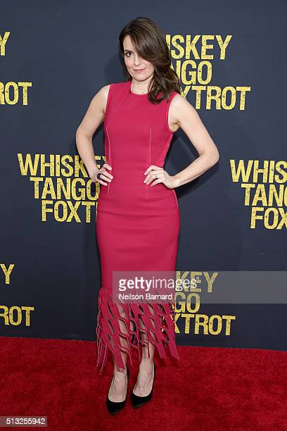 Actress and producer Tina Fey attends the World Premiere of the Paramount Pictures title 'Whiskey Tango Foxtrot' on March 1 2016 at AMC Loews Lincoln...