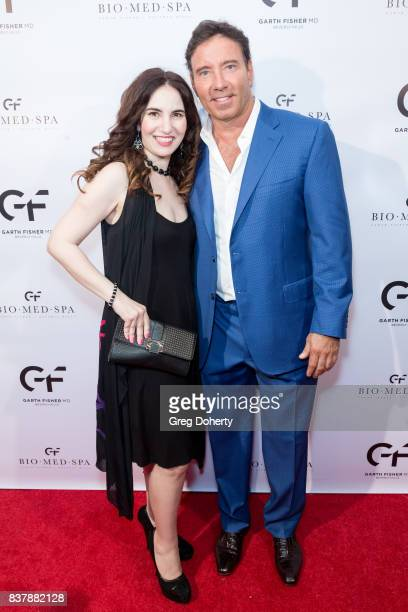 Actress and Producer Vida Ghaffari and Dr Garth Fisher attend the Official Launch Party Of Dr Garth Fisher's BioMed Spa at Garth Fisher MD on August...