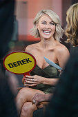 Actress and professional dancer Julianne Hough tapes an interview at 'Good Morning America' at the ABC Times Square Studios on March 2 2015 in New...