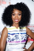 Actress and RB Singer Brandy attends the Niecy Nash book release party at Luxe Rodeo Drive Hotel on May 14 2013 in Beverly Hills California