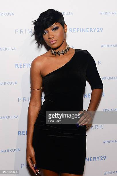 Actress and Recording Artist Keke Palmer attends The Keke Palmer Refinery29 Host Club Primania Event at Skybox Event Center on November 19 2015 in...