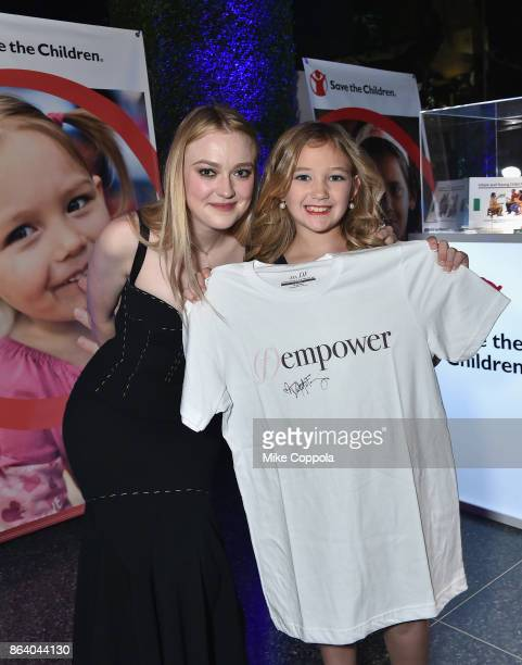 Actress and Save the Children Ambassador Dakota Fanning and Save the Children beneficiary Anna Marie attend the 5th Annual Save the Children...