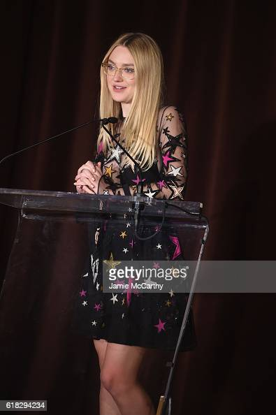 Actress and Save the Children Artist Ambassador Dakota Fanning speaks onstage during the 4th Annual Save the Children Illumination Gala at The Plaza...