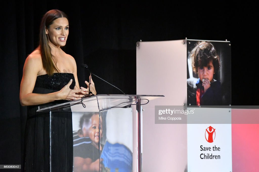 Actress and Save the Children Trustee Jennifer Garner speaks onstage at the 5th Annual Save the Children Illumination Gala at the American Museum of Natural History on October 18, 2017 in New York City.