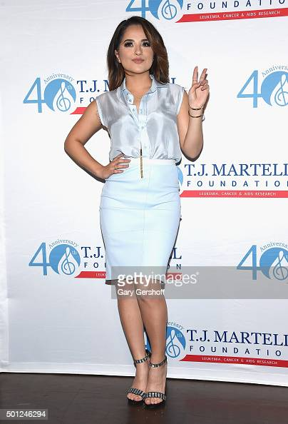 Actress and singer Becky G attends the 16th Annual TJ Martell Foundation New York Family Day at Brooklyn Bowl on December 13 2015 in New York City