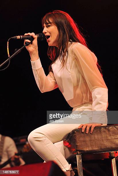 Actress and singer Charlotte Gainsbourg performs live on stage during the Summer Series at Somerset House on July 19 2012 in London United Kingdom