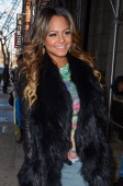 Actress and singer Christina Milian enters the 'Wendy Williams Show' at the Chelsea Studioson December 13 2012 in New York City