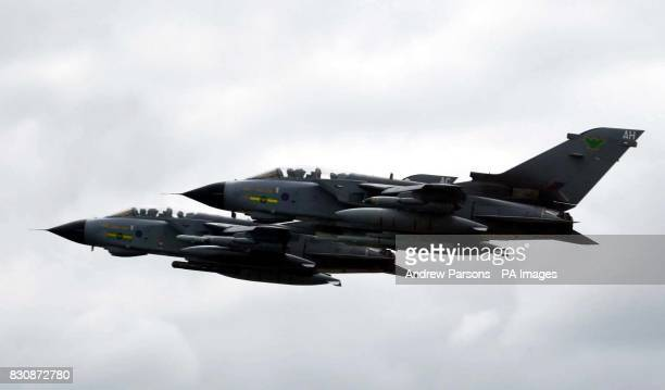 Actress and singer Claire Sweeney flies in a Tornado GR4 of No IX squadron from RAF Marham in Norfolk before flying to RAF Fairford in Gloucester to...