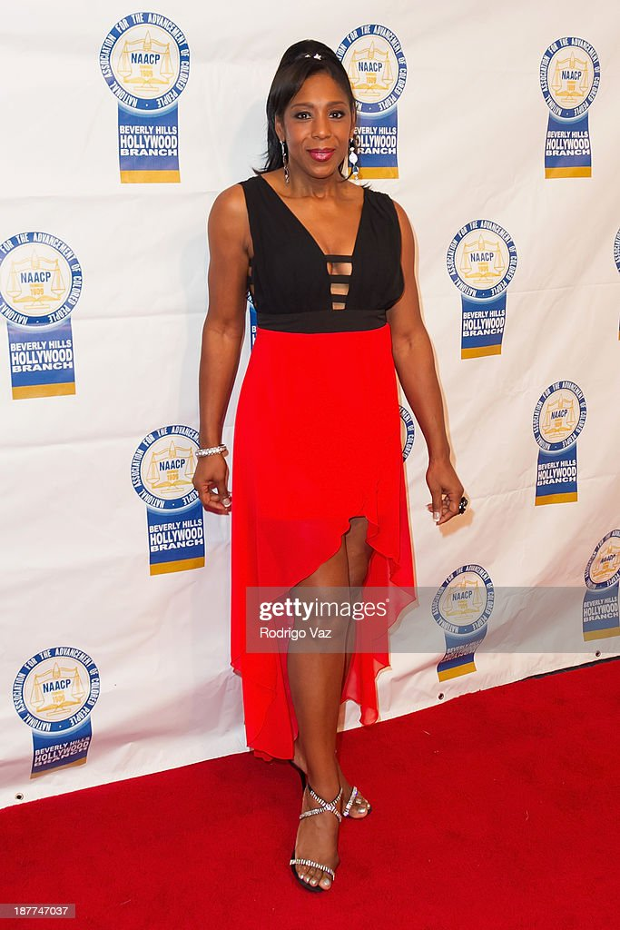 Actress and singer Dawnn Lewis attends the 23rd Annual NAACP Theatre Awards at Saban Theatre on November 11, 2013 in Beverly Hills, California.
