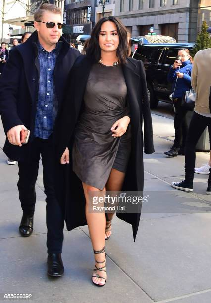 Actress and singer Demi Lovato is seen walking in Midtown on March 20 2017 in New York City