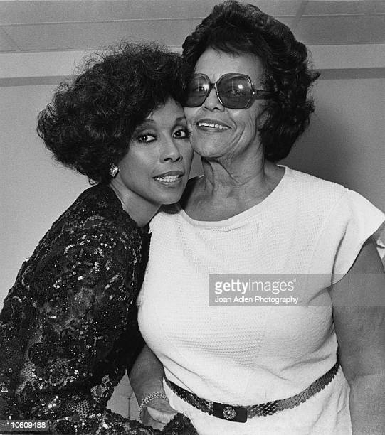 Actress and singer Diahann Carroll poses cheek to cheek with her mother Mabel Johnson during the taping of the syndicated variety series 'On Stage...