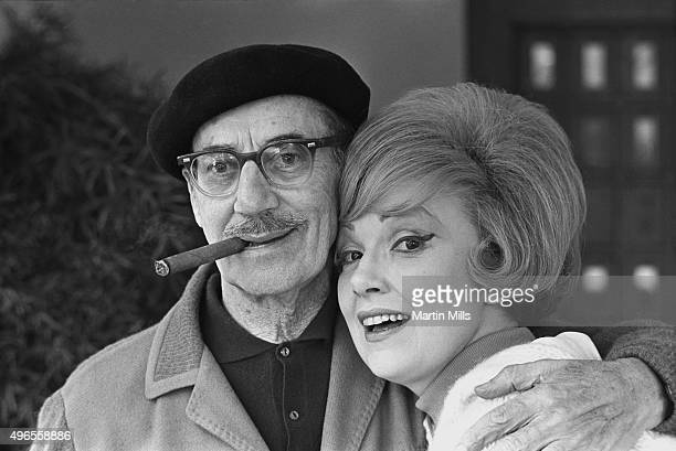 Actress and singer Edie Adams and comedian and actor Groucho Marx pose for a photo circa 1969 in Los Angeles California