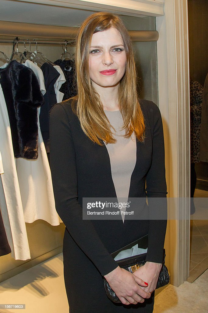 Actress and singer Elodie Frege attends the signing of Francis Huster's book 'And Dior Created Woman' at Dior Boutique on November 19, 2012 in Paris, France.