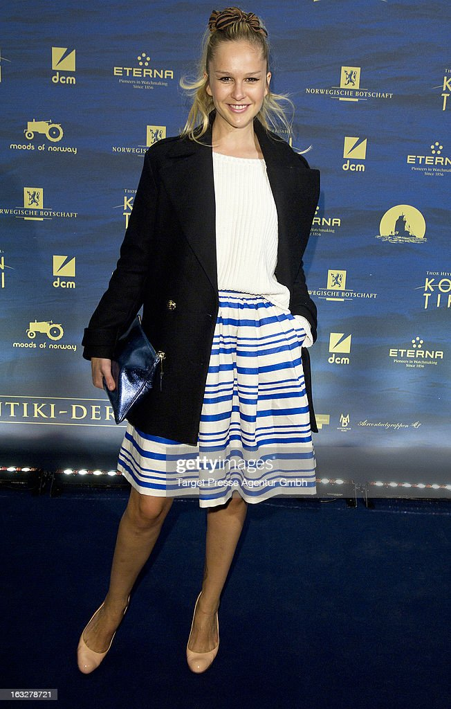 Actress and singer Esther Seibt attends the 'Kon-Tiki' Premiere at Kino International on March 6, 2013 in Berlin, Germany.